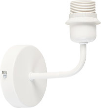 Wall lamp white with E27 fitting without shade -