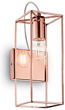 Wall lamp with metal and copper structure Volt