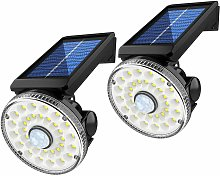 Wall light, 2 pieces of solar wall lamp Waterproof