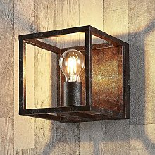 Wall Light 'Emin' dimmable) in Brown made