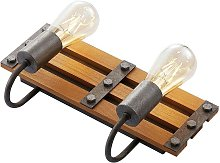 Wall Light 'Jamina') in Brown made of Wood