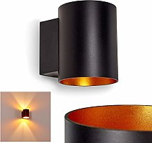 Wall Light Letsbo in Black and Golden Metal,