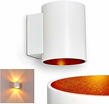 Wall Light Letsbo in White and Golden Metal,