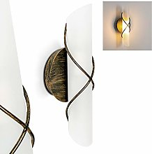 Wall Light Palma, Indoor lamp Made from Metal and