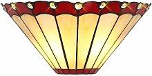Wall light Tiffany Calais 2 Bulbs Red 58 Cm