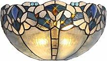Wall light Tiffany Cofee 2 Bulbs Blue 41 Cm