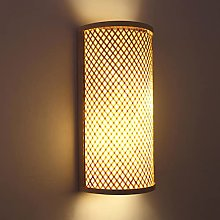 Wall Lighting Bamboo E27 Wall Sconce Rattan Woven