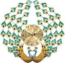 Wall Metal Clock Peacock,Large Iron Non Ticking