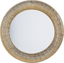 Wall Mirror ø 80 cm Gold CHANNAY