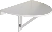 Wall Mounted 43cm Semi Circle Folding Table Symple