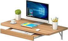 Wall-mounted Computer Desk With Keyboard Tray,
