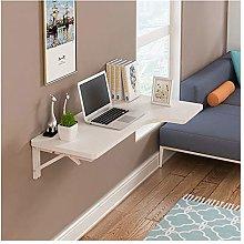 Wall-Mounted Corner Study Desk, Foldable Wooden