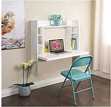 Wall Mounted Desk with Storage Shelves Home