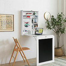 Wall-Mounted Drop-Leaf Table Folding Home Desk