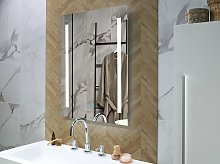 Wall Mounted Hanging LED Mirror 60 x 80 cm