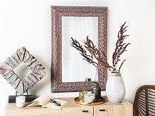Wall Mounted Hanging Mirror Copper 60 x 95 cm