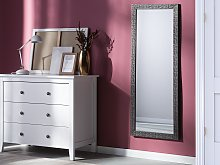 Wall Mounted Hanging Mirror Silver 50 x 130 cm