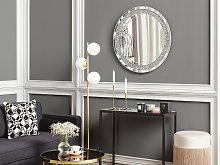 Wall Mounted Hanging Mirror Silver Round 70 cm