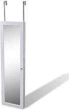 Wall Mounted Jewellery Cabinet with Mirror Mercury