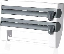 Wall Mounted Kitchen Paper Roll Holder, 4-in-1