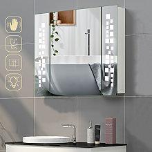 Wall Mounted LED Illuminated Bathroom Mirror
