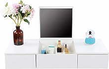 Wall-mounted makeup cabinet Dressing table with 2
