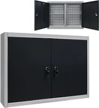 Wall Mounted Tool Cabinet Industrial Style Metal