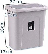 Wall-mounted Trash Can, Punch-free Storage Box,