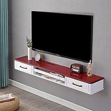 Wall Mounted Tv Shelf,Multi-Function Drawer Type