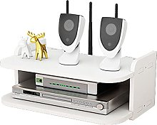 Wall-Mounted WiFi Router Rack, Living Room TV Wall