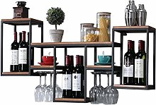 Wall-Mounted Wine Cabinet Wall Hanging Shelf bar