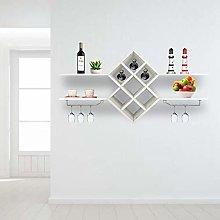 Wall Mounted Wine Rack, Bottle Stemware Glass