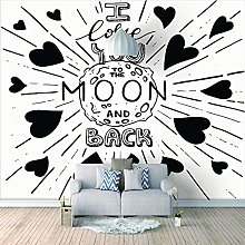 Wall Mural - I Love The Surface of The Moon 3D