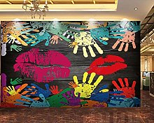 Wall Mural Palm Lips Mural Mural