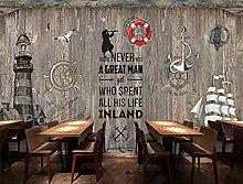 Wall Mural Wooden Board Lighthouse bar KTV Mural
