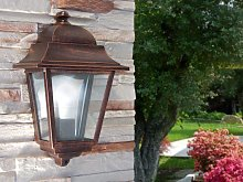 Wall outdoor lamp with aluminium and glass