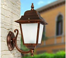 Wall outdoor lamp with aluminium and satin glass