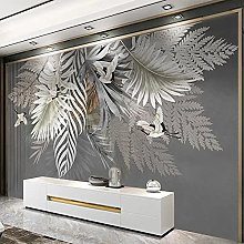 Wall Painting 3D Hand Painted Plant Leaves Photo