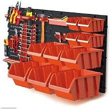 Wall Plastic Bin Kit Garage Storage Parts Bins