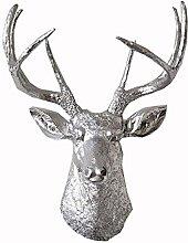 Wall Sculptures Deer Head Decoration Lucky Wall