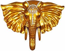 Wall Sculptures Elephant Pendant Animal Head Wall