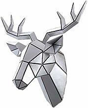 Wall Sculptures Modern Deer Head Wall Hanging