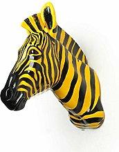 Wall Sculptures Simulation zebra head decoration
