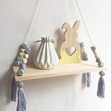 Wall Shelf Floating Shelf Wood Rack Hanging Swing