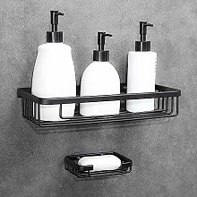Wall Shower Shelf No Drilling Space Aluminum Wall