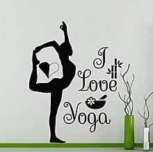 Wall Sticker 42X55Cm I Love Yoga Gymnastics Decal