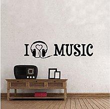 Wall Sticker 56X15Cm I Love Music Personality