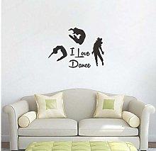 Wall Sticker 57X42Cm I Love Dancing Wall Art