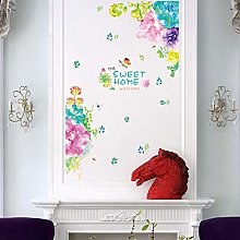 Wall Sticker 88 * 193Cm Colorful Flower Sweet Home