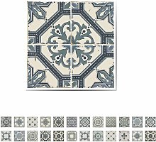 Wall Sticker Azulejo Vintage Blue 10x10cm 24